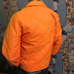 Vintage Jackets & Coats - Vintage Distressed Stained Hunter's Orange Jacket